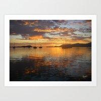 Sunrise On The Sea Of Co… Art Print