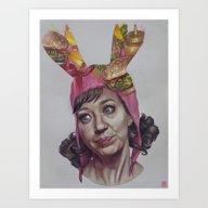 Louise's Burgers Art Print