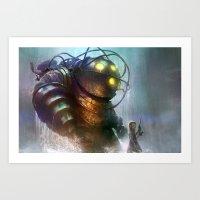Mr Bubbles Strolling  Art Print