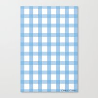 Canvas Print featuring Indigo Gingham by SalbyN