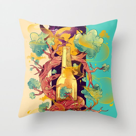 Natural Cycle Throw Pillow