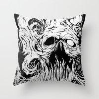 Organic Skull Throw Pillow