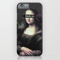 iPhone & iPod Case featuring Mona Lisa SMILE by Denise Esposito