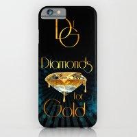 Diamonds for Gold Splatter iPhone 6 Slim Case