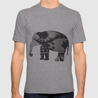 Elephant (The  Living Things Series)  Mens Fitted Tee Athletic Grey SMALL