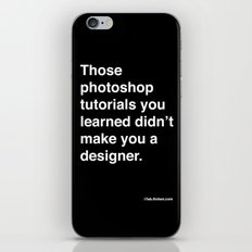 those photoshop tutorials you learned didn't make you a designer. iPhone & iPod Skin