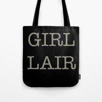 GIRL LAIR - Black Versio… Tote Bag