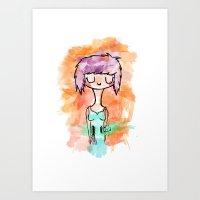 La Chica Altavoz Art Print