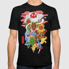 Monster Parade Mens Fitted Tee Tri-Black SMALL