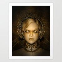 Steampunk Female Machine Art Print