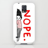 Galaxy S5 Cases featuring Nope by gemma correll