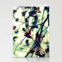 Aqua Leaves Stationery Cards