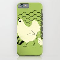 iPhone & iPod Case featuring Hen and chick by Jenny Tiffany