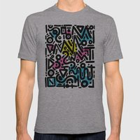 ABSTRACT 012 Mens Fitted Tee Athletic Grey SMALL