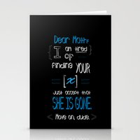 Dear Math (blue)  Stationery Cards