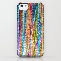 iPhone 5c Cases featuring Rainbow Mosaic by Joke Vermeer