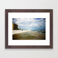 Let's Go to the Beach Framed Art Print