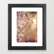pink frame Framed Art Print