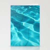 Water / Swimming Pool (Water Abstract) Stationery Cards