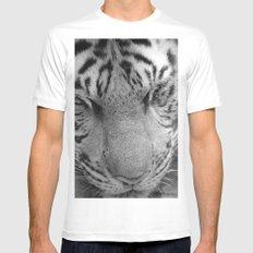 Le Tigre Pendant Sa Sieste White Mens Fitted Tee SMALL