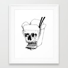 Monster Food: Takeout Framed Art Print