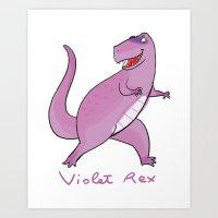 Violet Rex Art Print