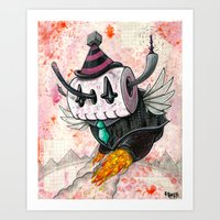 The Robot Monster 00101101 Art Print