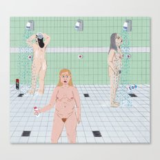 Ladies In The The Shower… Canvas Print