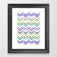 Chevronized Framed Art Print