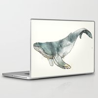 whale Laptop & iPad Skins featuring Humpback Whale by Amy Hamilton