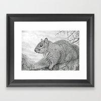 The Grey Peril Framed Art Print