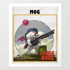 Retro Big Boss Promo  Art Print