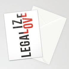 legalize love Stationery Cards