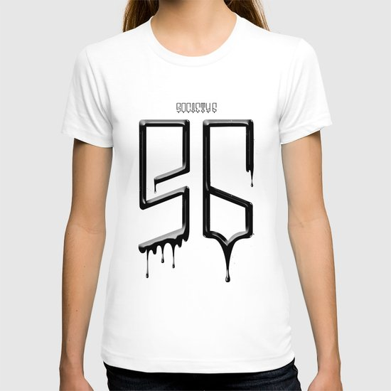S6 TEE BLACK PAINT T-shirt