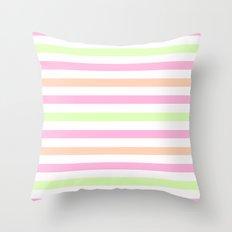 SHERBET STRIPES 2 Throw Pillow