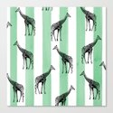 Stripes & Giraffes Canvas Print