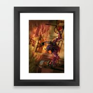 Framed Art Print featuring The Guardian Angel by Fabi