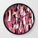 Colourful Feathers Wall Clock
