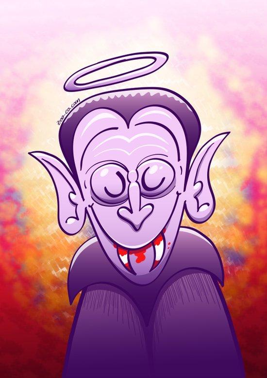 Dracula is Innocent Art Print