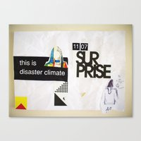 Draw your days : day#5 Disaster Climate Canvas Print