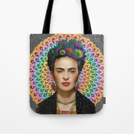 Tote Bag featuring Frida Kahlo by Luna Portnoi