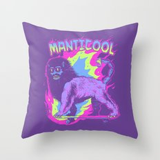 Manticool Throw Pillow