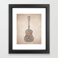Guitar Notes Framed Art Print