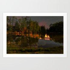 Glimmering Pond Art Print