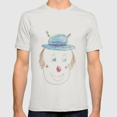 Childhood Drawings (clown) Mens Fitted Tee Silver SMALL