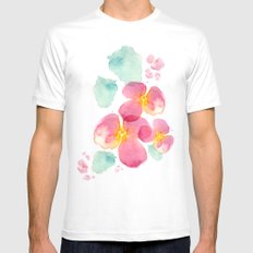 Eastern bloom SMALL White Mens Fitted Tee