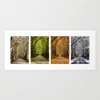 4 Seasons Art Print