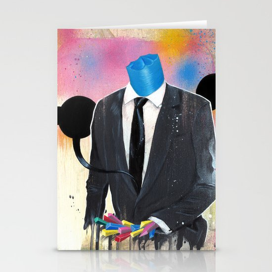Plasticine man in a suit. Stationery Card