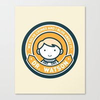 Cute John Watson - Orange Canvas Print