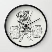 Pug Lift Wall Clock